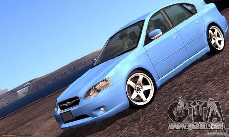 Subaru Legacy 2004 v1.0 for GTA San Andreas engine