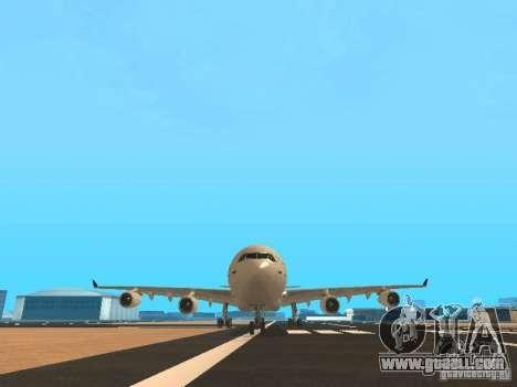 Airbus A340-300 Air Canada for GTA San Andreas bottom view