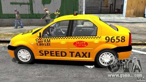 Dacia Logan Prestige Taxi for GTA 4 left view
