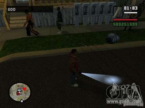 Flashlight for GTA San Andreas