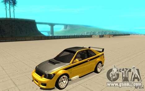 GTA IV Sultan RS FINAL for GTA San Andreas bottom view