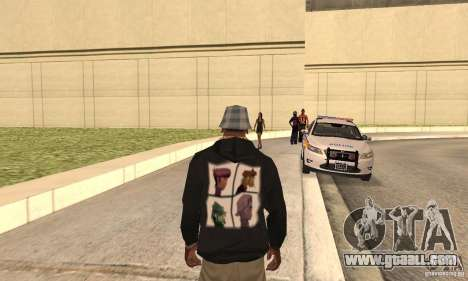 Gorillaz skin for GTA San Andreas second screenshot