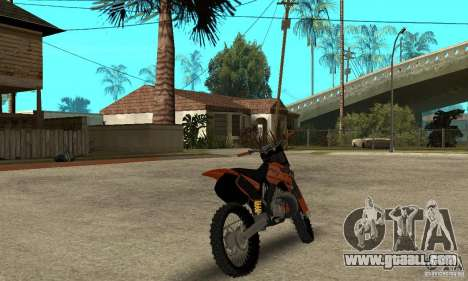 KTM SX250 for GTA San Andreas left view