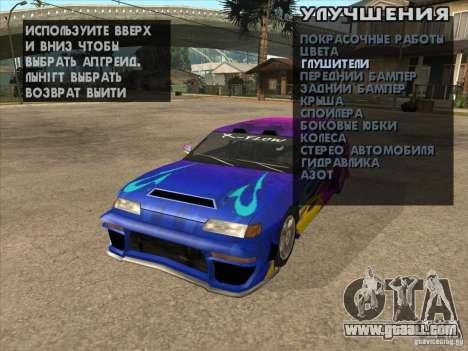 Tuning machine anywhere for GTA San Andreas sixth screenshot