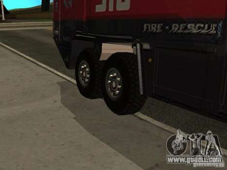 MAN Rosenbauer for GTA San Andreas inner view