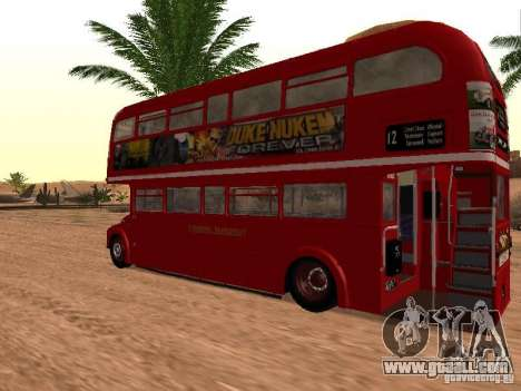 AEC RouteMaster RML for GTA San Andreas back left view
