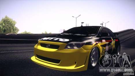 Scion TC Rockstar Team Drift for GTA San Andreas back view