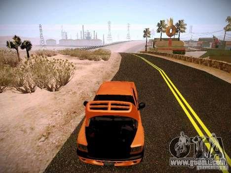 Dodge Ram 1500 Dacota for GTA San Andreas upper view