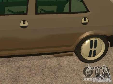 Fiat Ritmo for GTA San Andreas bottom view