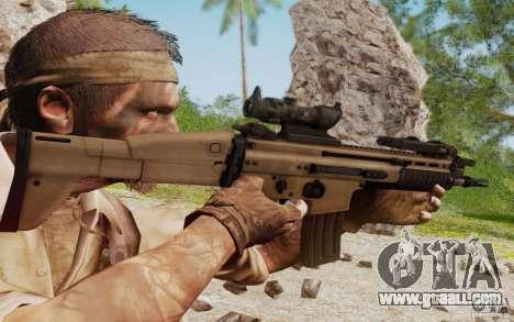 FN Scar L for GTA San Andreas fifth screenshot