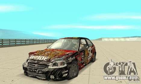 Honda-Superpromotion for GTA San Andreas side view