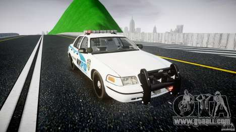 Ford Crown Victoria v2 NYPD [ELS] for GTA 4 back view
