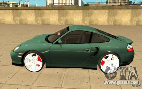 Porsche 911 Turbo for GTA San Andreas left view