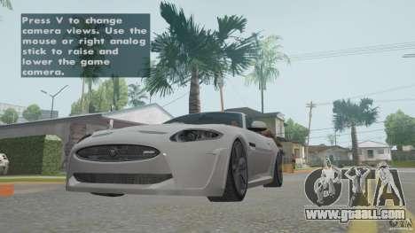Jaguar XKR-S for GTA San Andreas