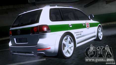 Volkswagen Touareg Policija for GTA San Andreas back left view