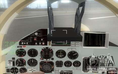 The Su-37 Terminator for GTA San Andreas back view