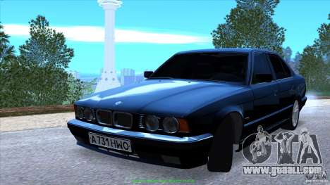 BMW E34 V1.0 for GTA San Andreas bottom view