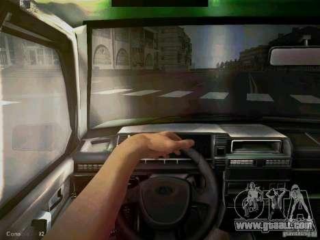 Vaz 2109 short-kryloe Taxi for GTA San Andreas back view