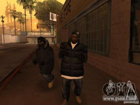 Winter clothes for Ballas for GTA San Andreas fifth screenshot