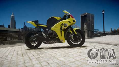 Honda CBR1000RR for GTA 4 back view