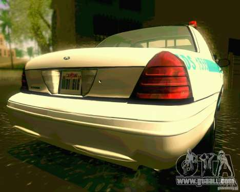 Ford Crown Victoria 2003 NYPD police for GTA San Andreas back view