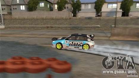 Subaru Impreza WRX STI Rallycross KMC Wheels for GTA 4 back view