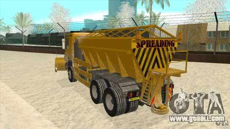 Mercedes-Benz Actros Snow Blower for GTA San Andreas back left view