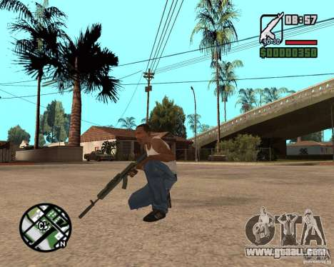 AK-47 from GTA 5 v.1 for GTA San Andreas third screenshot