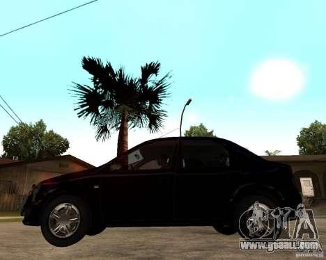 Dacia Logan 2008 for GTA San Andreas left view