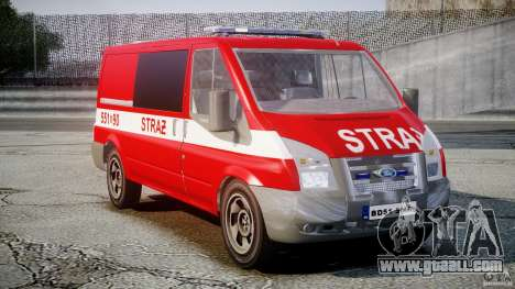 Ford Transit Polish Firetruck [ELS] for GTA 4