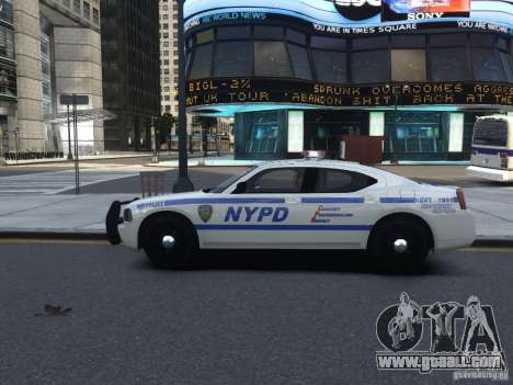 Dodge Charger NYPD for GTA 4 back view