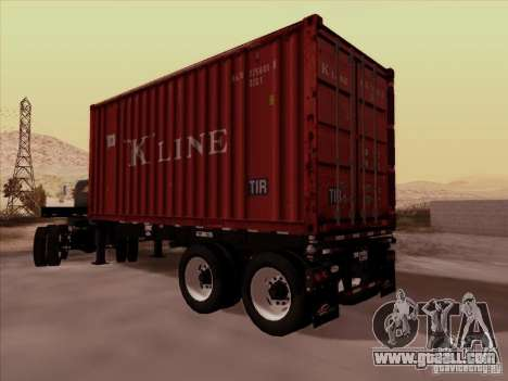 Container for GTA San Andreas back left view