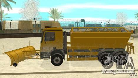 Mercedes-Benz Actros Snow Blower for GTA San Andreas left view