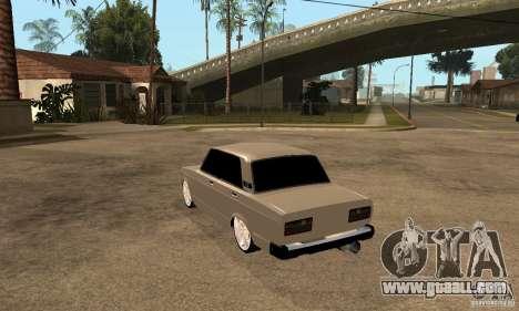 Lada VAZ 2107 LT for GTA San Andreas back left view