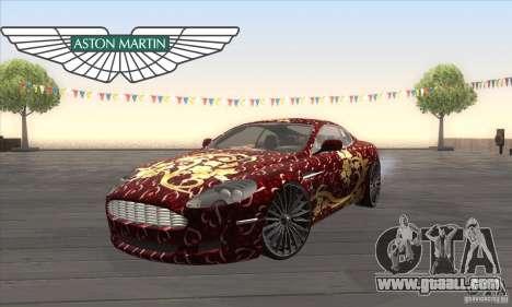 Aston Martin DB9 Female Edition for GTA San Andreas