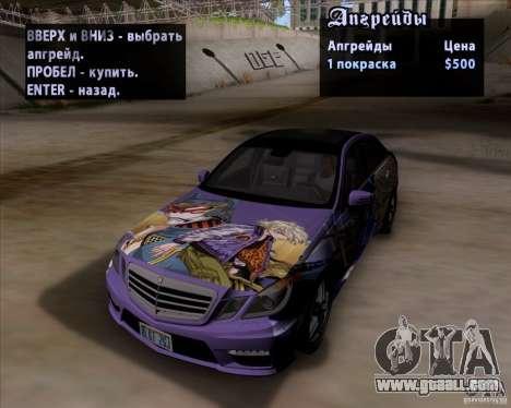 Mercedes-Benz E63 AMG V12 TT Black Revel for GTA San Andreas inner view