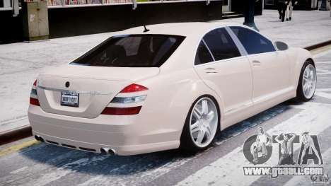 Mercedes-Benz S-Class BRABUS S Biturbo W221 2006 for GTA 4 back left view