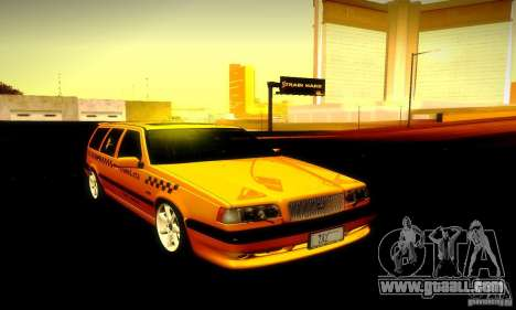 Volvo 850 R Taxi for GTA San Andreas back view