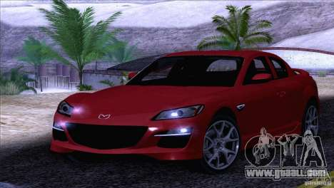 Mazda RX8 R3 2011 for GTA San Andreas side view