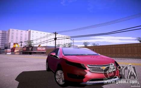Chevrolet Volt for GTA San Andreas back left view