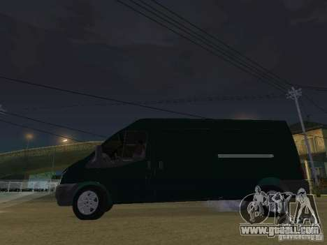 Ford Transit 350L for GTA San Andreas inner view