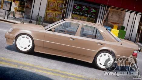 Mercedes-Benz W124 E500 1995 for GTA 4 left view
