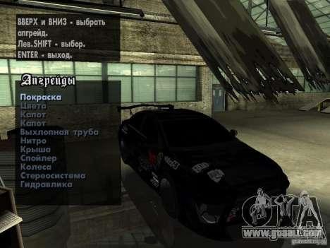 Mitsubishi Lancer Evolution X Drift Spec for GTA San Andreas inner view