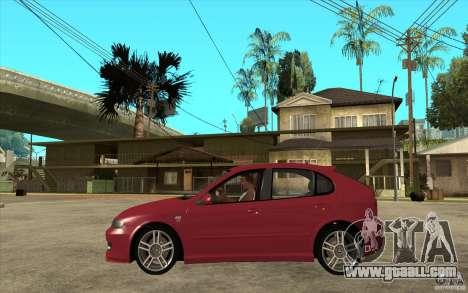 Seat Leon Cupra - Stock for GTA San Andreas left view