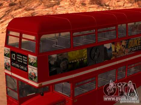 AEC RouteMaster RML for GTA San Andreas upper view