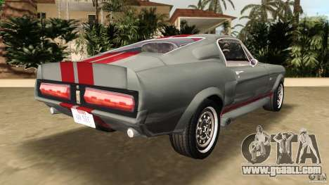 Ford Shelby GT500 for GTA Vice City back left view