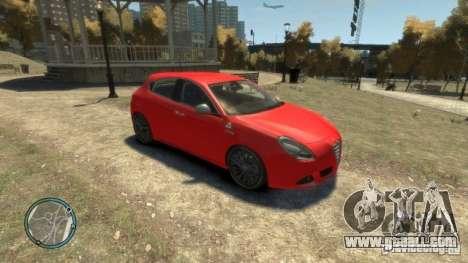 ALFA ROMEO GIULIETTA QUADRIFOGLIO VERDE for GTA 4 back view