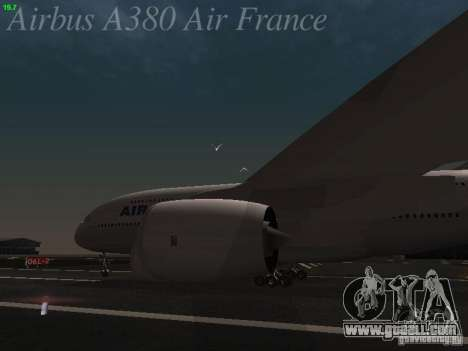 Airbus A380-800 Air France for GTA San Andreas back view