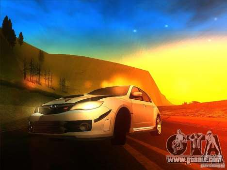 Subaru Impreza WRX 2008 Tunable for GTA San Andreas left view