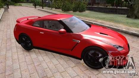 Nissan GTR R35 v1.0 for GTA 4 inner view